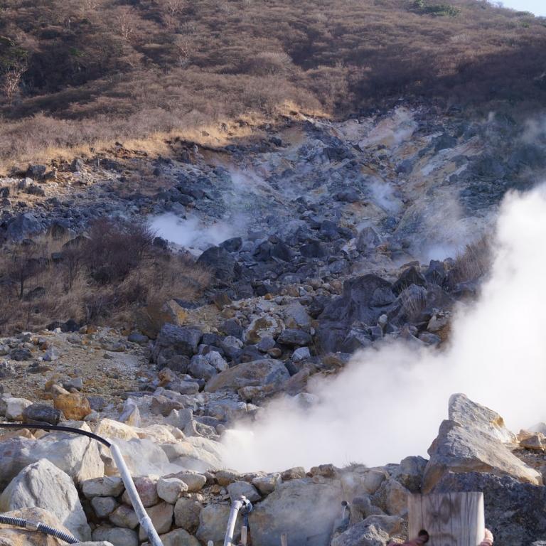 ОоВакуДани и сероводородные источники Хаконэ; Канагава