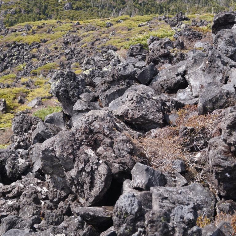 Вулканическое происхождение гор видно почти повсеместно; Нагано