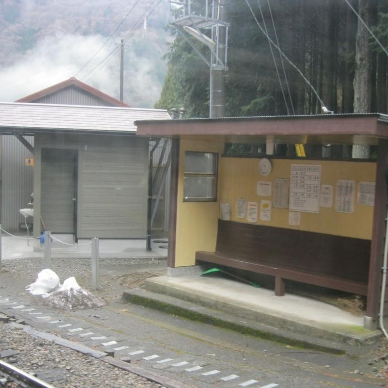 Полустанок на линии ОикаваТэцудо, напоминающей детскую железную дорогу; Сидзуока