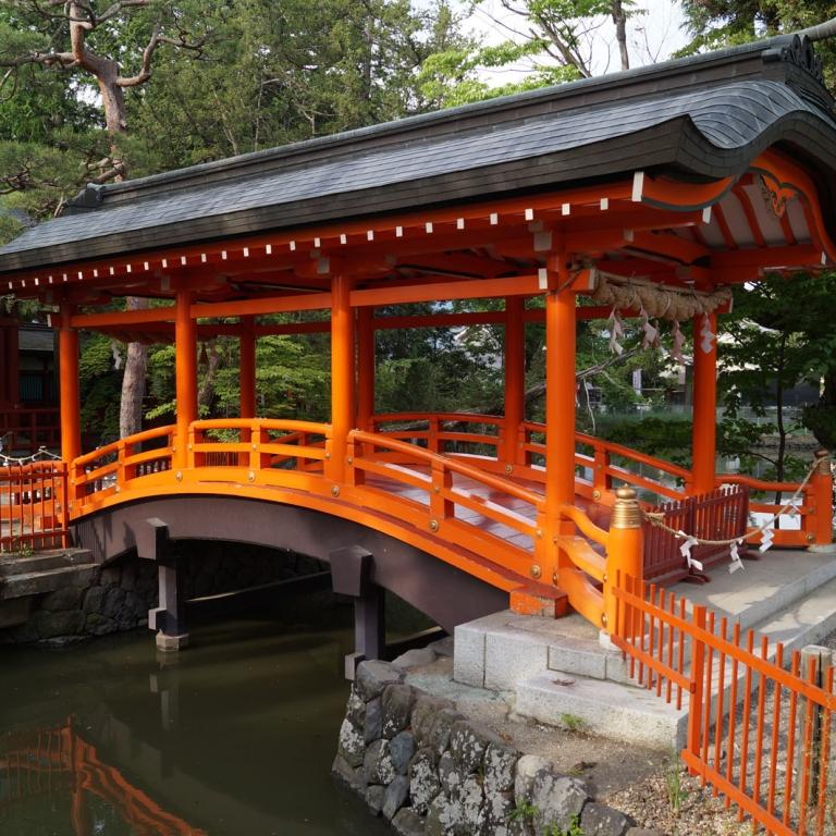Мостик в ИкусимаТарусима Дзиндзя; Нагано