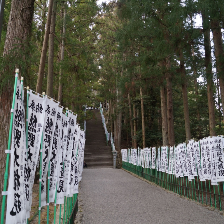 Длинная лестница к Кумано Хонгу Тайся; Вакаяма