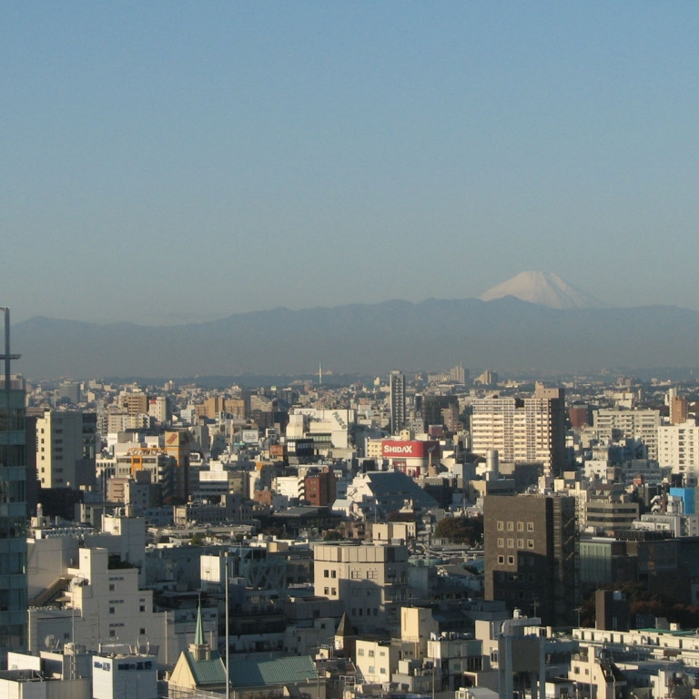 Из окна гостиницы в центре столицы; Токио