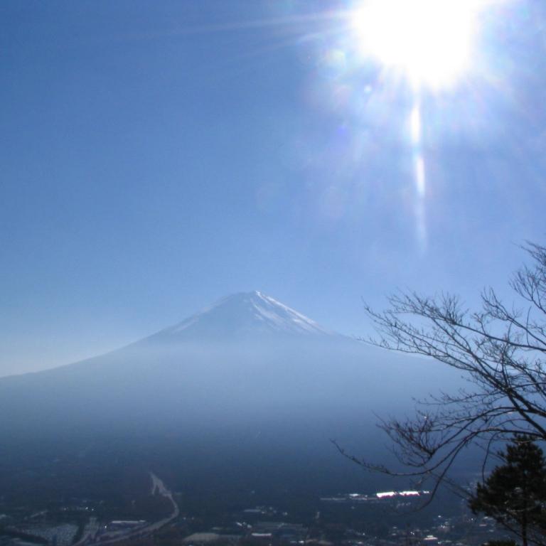 С верхней станции фуникулера на озере Кавагути; Яманаси